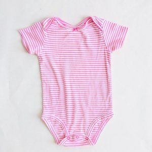 Carter's Pink and White Striped Onesie